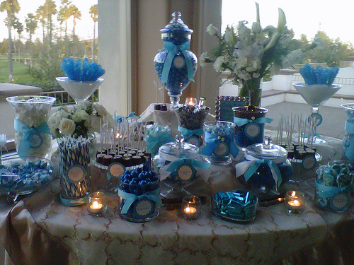Blue And White Candy Buffet Elegance Designs Amp Rentals