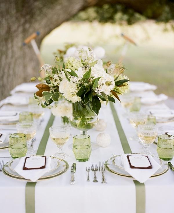 sage themed wedding table setting elegance designs rentals