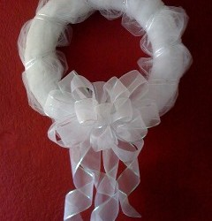 Wedding Tulle wreath